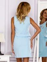 Jasnoniebieska sukienka z troczkami                                  zdj.                                  2