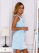 Jasnoniebieska sukienka z troczkami                                  zdj.                                  3