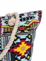 Jasnoniebieska torba plażowa w azteckie wzory                                  zdj.                                  8