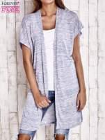 Jasnoniebieski melanżowy długi sweter                                  zdj.                                  1