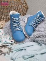 Jasnoniebieskie buty trekkingowe damskie Amina traperki ocieplane                                  zdj.                                  1