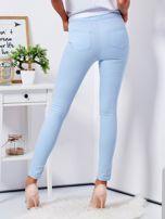 Jasnoniebieskie dopasowane spodnie high waist                                  zdj.                                  2