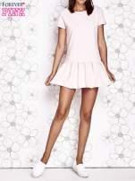 Granatowa dresowa sukienka z wycięciem na plecach