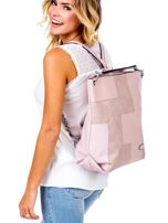 Jasnoróżowa torba-plecak z odpinanymi szelkami                                  zdj.                                  1
