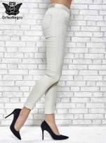 Jasnoszare spodnie rurki skinny