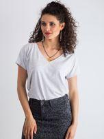 Jasnoszary melanżowy t-shirt Emory                                  zdj.                                  1