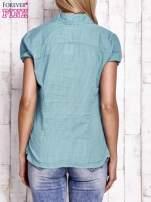 Jasnozielona koszula w drobne paski                                  zdj.                                  4