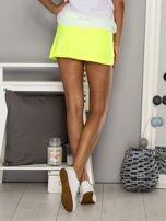 Turkusowe gładkie spodenki spódniczka tenisowa