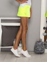 Jasnozielone gładkie spodenki spódniczka tenisowa                                   zdj.                                  5