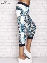 Jasnozielone spodnie capri z nadrukiem motyli                                  zdj.                                  3