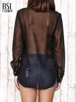 Jeansowa koszula z tiulowymi rękawami                                                                          zdj.                                                                         4