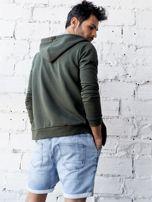 Khaki bluza męska z kapturem rozpinana                                  zdj.                                  5