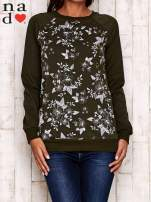 Khaki bluza z kwiatowym nadrukiem                                  zdj.                                  2