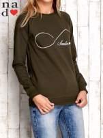 Khaki bluza z napisem SMILER                                  zdj.                                  1