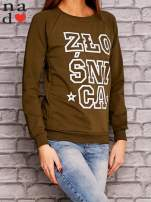 Khaki bluza z napisem ZŁOŚNICA                                  zdj.                                  3