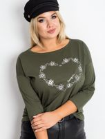 Khaki bluzka plus size Feelings                                  zdj.                                  3