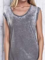 Khaki długa sukienka acid wash                                   zdj.                                  6