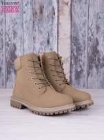 Khaki jednolite buty trekkingowe Elyia damskie traperki ocieplane                                  zdj.                                  2