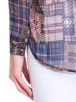 Khaki koszula damska w kratę                                  zdj.                                  9
