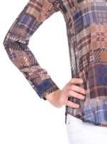 Khaki koszula damska w kratę                                                                          zdj.                                                                         7