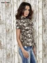 Khaki koszula w militarnym stylu Funk n Soul                                  zdj.                                  3