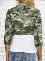 Khaki krótka kurtka z aplikacją na kołnierzu                                                                          zdj.                                                                         6