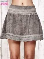 Khaki spódnica z efektem dekatyzowania                                                                          zdj.                                                                         2