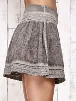 Khaki spódnica z efektem dekatyzowania                                                                          zdj.                                                                         6