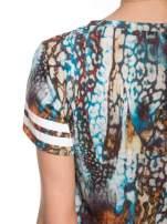 Khaki t-shirt typu crop top z numerkiem                                  zdj.                                  8