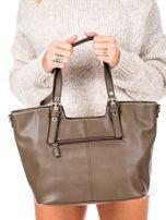 Khaki torba z chwostem i odpinanym paskiem                                  zdj.                                  4