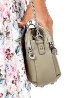 Khaki torba z dzielonymi komorami                                  zdj.                                  3
