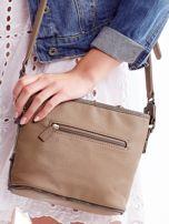 Khaki torebka listonoszka z plecioną wstawką                                  zdj.                                  4
