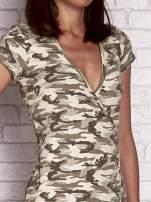 Khaki wiązana sukienka w militarnym stylu Funk n Soul                                  zdj.                                  5