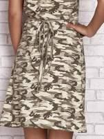 Khaki wiązana sukienka w militarnym stylu Funk n Soul                                  zdj.                                  6