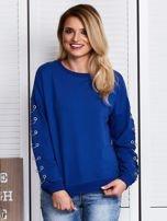 Kobaltowa bluza z kółeczkami                                  zdj.                                  1