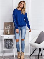 Kobaltowa bluza z kółeczkami                                  zdj.                                  4