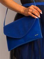 Kobaltowa lakierowana kopertówka z klapką                                  zdj.                                  1