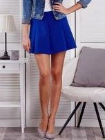 Kobaltowa rozkloszowana spódnica damska                                  zdj.                                  1