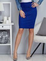 Kobaltowa spódnica z imitacji zamszu                                  zdj.                                  1