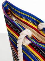Kolorowa torba plażowa w paski                                  zdj.                                  6