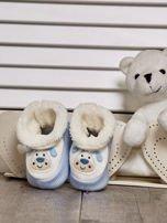 Komplet bucików dziecięcych z naszywkami ecru-jasnoniebieski                                  zdj.                                  6