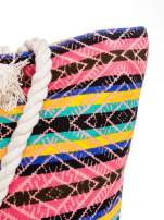 Koralowa torba plażowa w azteckie wzory                                  zdj.                                  8