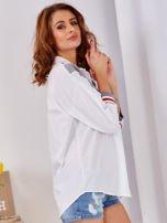 Koszula biała ze ściągaczem                                  zdj.                                  5