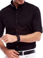Koszula męska czarna slim fit                                  zdj.                                  5