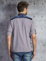 Koszula męska w drobną kolorową kratkę wielokolorowa PLUS SIZE                                  zdj.                                  2