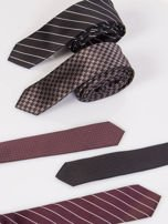 Krawat męski we wzory 5-pak wielokolorowy                                  zdj.                                  1