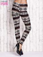 Kremowe legginsy z nadrukiem norweskim                                  zdj.                                  3