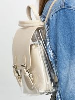 Kremowy plecak z ekoskóry                                  zdj.                                  5