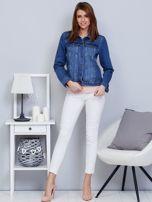 Krótka kurtka jeansowa niebieska                                   zdj.                                  4
