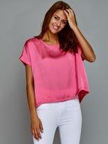 Krótki t-shirt oversize różowy                                  zdj.                                  6